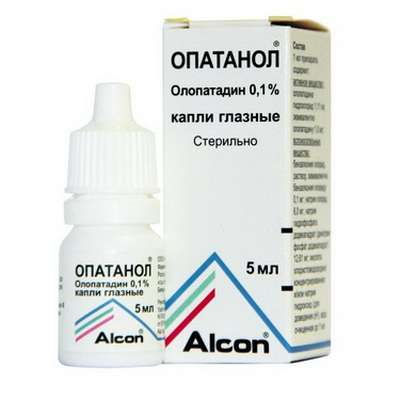 Opatanol eye drops 0.1% 5ml buy antihistamine, antiallergic drug online