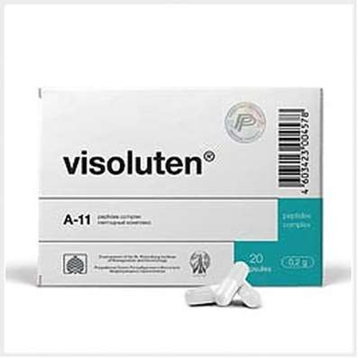 Visoluten 20 capsules buy peptide bioregulator eyes online