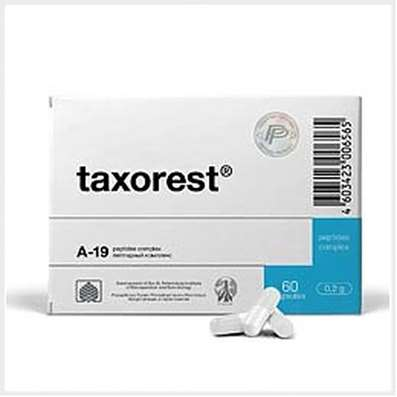 Taxorest intensive 1 month course 180 capsules natural bronchial mucous peptides