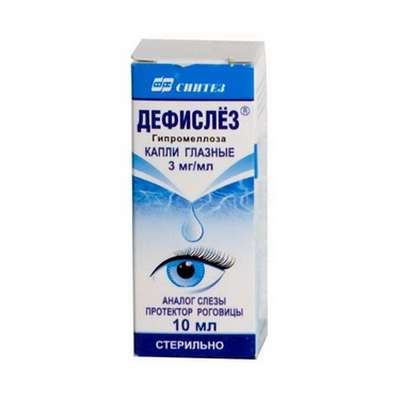 Defislez eye drops 3mg/ml 10ml buy restoration and stabilization of tear film