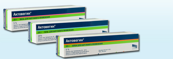 Actovegin ointment and Actovegin gel